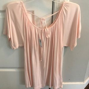 Light/pale pink casual top